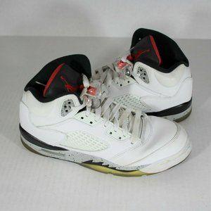 Nike Air Jordan 5 Retro White Cement GS N386